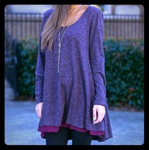 Lightly Layered Tunic in Orchid
